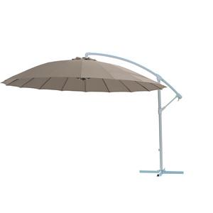 Parasol déporté shangaï taupe D. 300 cm
