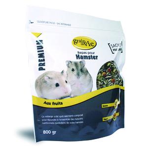 Repas hamster premium fruit 800 g 613364