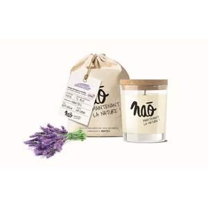Bougie parfumée bio NAO, lavande, 84x75x105 cm
