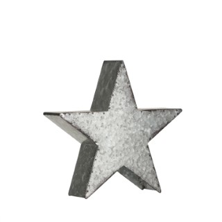 Étoile en métal argenté Ø 25 cm