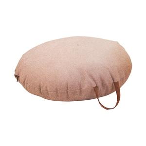 Coussin de sol en coton rose Ø 60 cm avec anse en cuir 617453