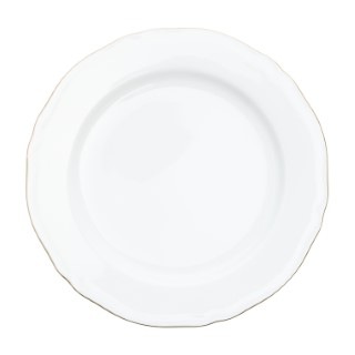 Assiette à dessert Alba en porcelaine blanc et or Ø 21cm 622845