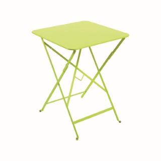 Table pliante carrée couleur verveine 57 x 57 x 74 cm 62349