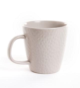 Mug en grès beige de 40 cl  623951