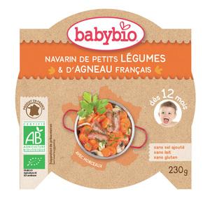 Mon Assiette Ptits Légumes et Agneau bio 230 g BABYBIO