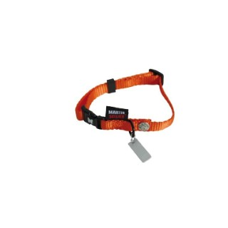 Collier chien réglable 10mm / 20-30cm orange 626671