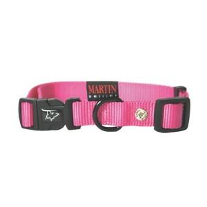 Collier chien réglable 20mm / 40-55cm rose 626678
