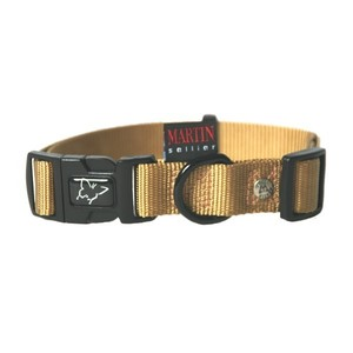 Collier chien réglable 25mm / 45-65cm beige 626679