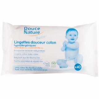 Lingettes bébé biodégradables DOUCE NATURE
