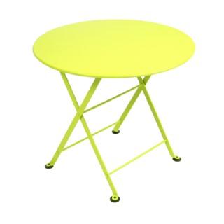 Table basse en acier couleur Verveine