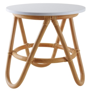 Table en rotin naturel pour enfant Ø35 x H.35cm 635085