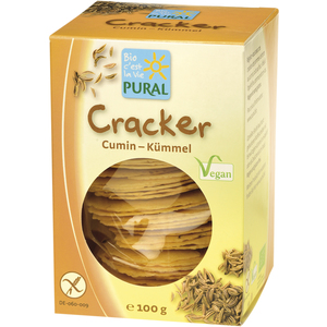 Crackers sans gluten au cumin PURAL