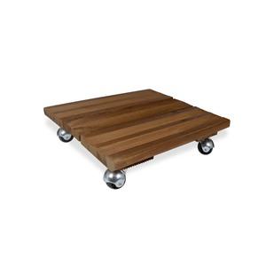 Roule plante en bois modèle petit carré marron 40 x 40 cm 641136