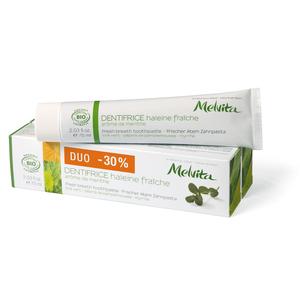 Duo dentifrice haleine fraîche Melvita 2 x 75 ml