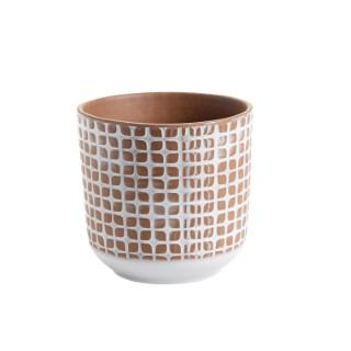 Cache-pot Grès motif Ø 16 cm Grès 649869