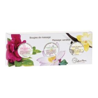 Coffret bougies de massage boîte 3 x 35 g blanc 651144