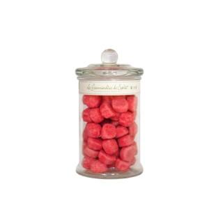 Bonbonnière en verre avec fraises moyen modèle 150 g