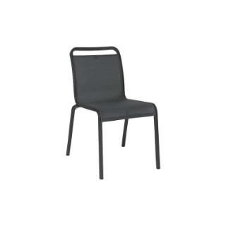 Chaise Oskar Stern en aluminium et textilène au coloris anthracite carbon 652142