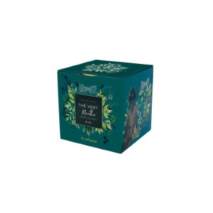 Thé vert à la menthe bio 24 sachets en boite cube métal 653018
