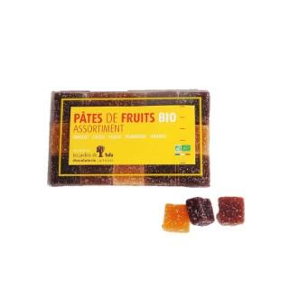 Assortiment de pâtes de fruits bio en étui de 230 g