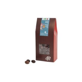 Pochon d'amandes bio enrobées de chocolat lait ou noir 180 g 653046
