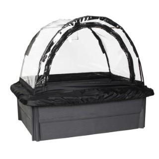 Espace potager Veg&table™ Garden gris avec serre souple de 67 L 654052