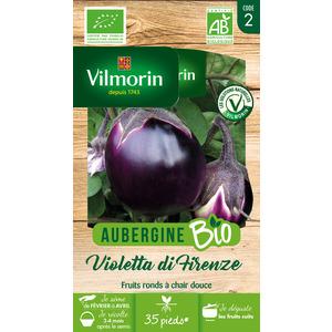 Sachet de graines d'Aubergine violette de Florence Bio 654879