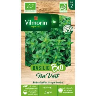 Sachet de graines de Basilic fin vert Bio 654881