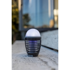 Lampe de table solaire anti moustique noire à LED Ø 9 x H 15 cm 658764