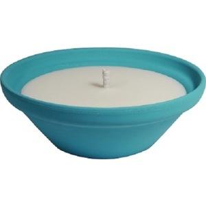 Bougie à la citronnelle dans bol terre cuite bleu pastel Creta 70X155 659231