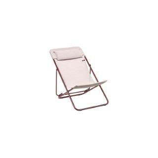 Chaise longue Maxi Transat + Eole Batyline duo Lafuma Sirocco tube pink 659257