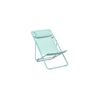 Chaise longue Maxi Transat + Eole Batyline duo Lafuma Mistral tube blue 659258