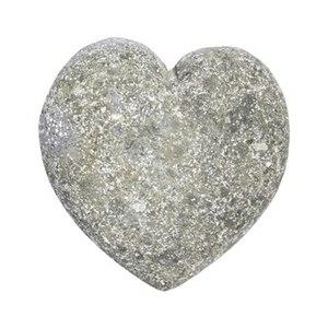 Cœur de pierre coloris gris en pierre naturelle 10 x 10 x 2,5 cm 659282