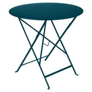 Table Pliante Bistro FERMOB bleu acapulco Ø77xh74 659351