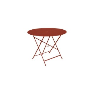 Table Pliante Bistro FERMOB ocre rouge Ø96xh74 659352