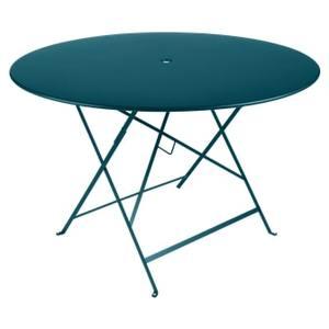 Table Pliante Bistro FERMOB bleu acapulco Ø117xh74 659355