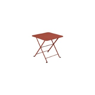Table basse carré Tom pouce Bistro FERMOB ocre rouge L50xl50xh48,5 659370