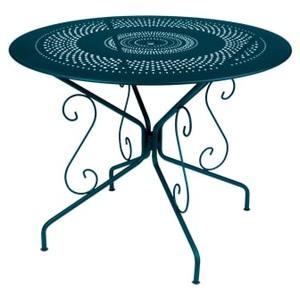 Table Montmartre FERMOB bleu acapulco Ø96x74 659394