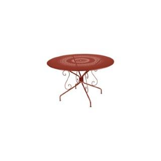 Table Montmartre FERMOB ocre rouge Ø117x74 659395
