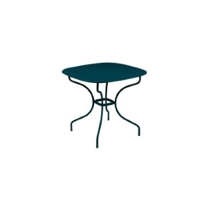 Table Opéra + FERMOB bleu acapulco L82xl82xh74 659432