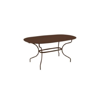 Table Opéra + FERMOB rouille L160xl90xh74 659445