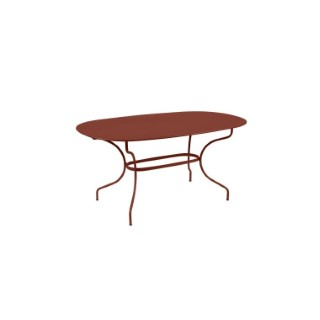 Table Opéra + FERMOB ocre rouge L160xl90xh74 659447