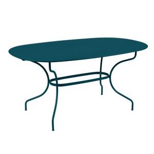 Table Opéra + FERMOB bleu acapulco L160xl90xh74 659448