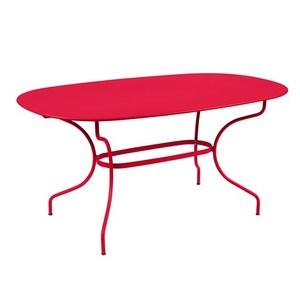 Table Opéra + FERMOB rose praline L160xl90xh74 659460