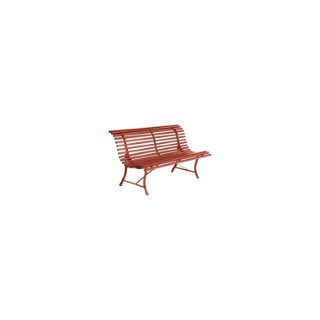 Banc Louisiane Fermob en acier coloris ocre rouge 150 cm 659461