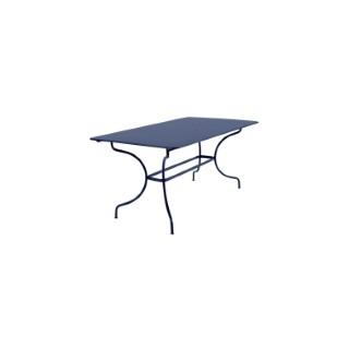 Table Manosque FERMOB bleu abysse L160xl90xh74 659468
