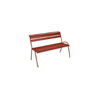 Banc Monceau Fermob en acier coloris ocre rouge 116 cm 659518
