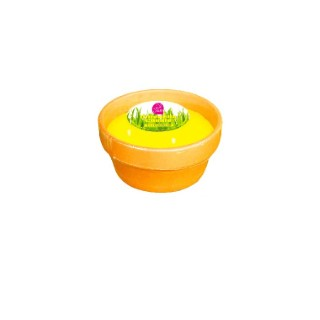 Bougie à la citronnelle 3 mèches en pot en terre cuite 659605