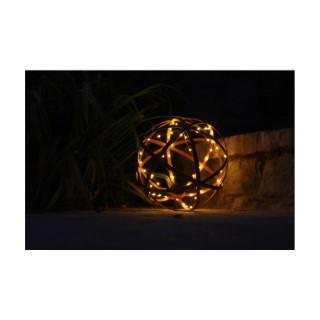 Lampe solaire Willy en métal vieilli marron à 45 mini LED Ø 38 cm 659608