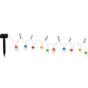 Guirlande solaire Escape de 10 ampoules multicolores à mini LED 180 cm 659611